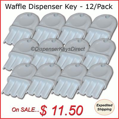 "12//pk. Universal /""Waffle Key/"" for Paper Towel /& Toilet Tissue Dispensers"