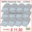 Universal-034-Waffle-Key-034-for-Paper-Towel-amp-Toilet-Tissue-Dispensers-12-pk thumbnail 1