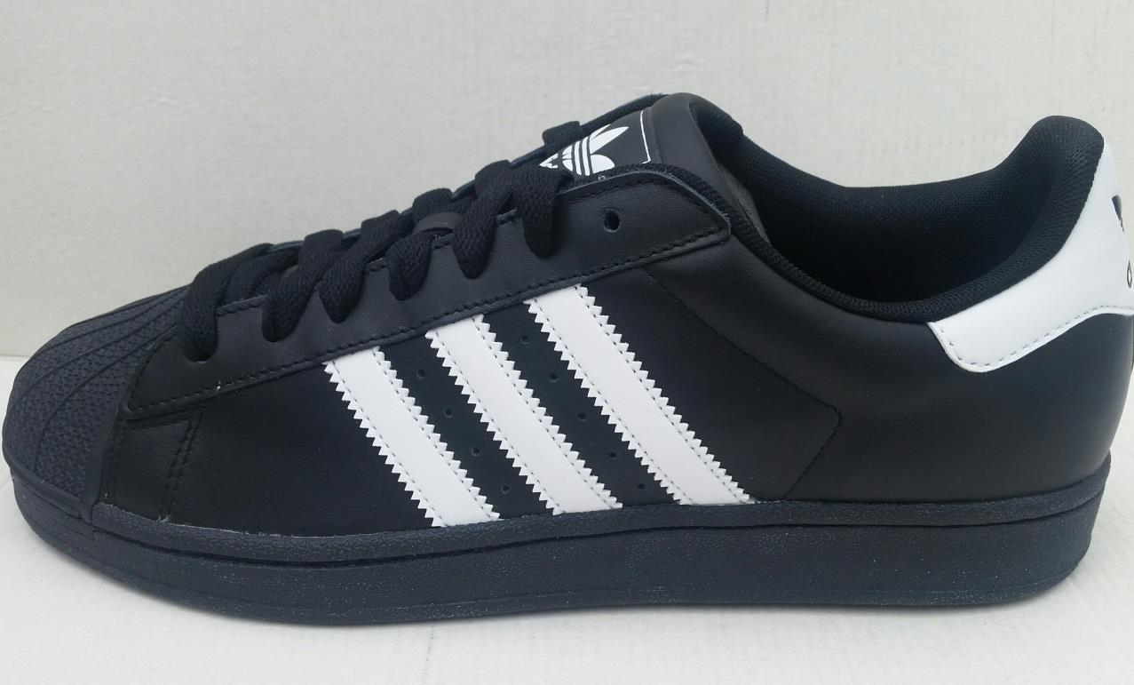 Adidas mens superstar 2 g17067 trainer schuh - schwarz - weiße neue