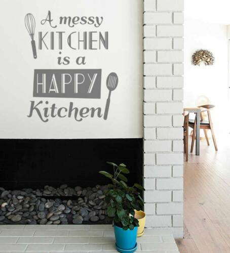 A Messy Kitchen Wall Sticker Wall Chick Decal Art Sticker Quote