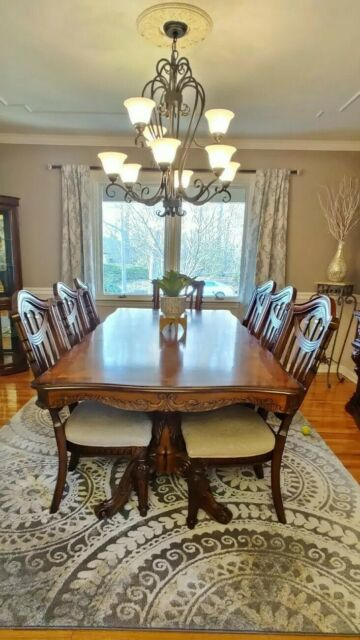 Dining Room Set 1 Table 8 Chairs China Closet 2 Pieces For Sale Online