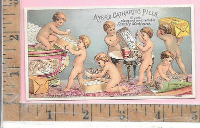 Collectibles Other Victorian Trade Cards Sunny Ayer's Cathartic Pills Putti Cupids J E Ayer & Co Lowell Mass Usa 0820 To Clear Out Annoyance And Quench Thirst