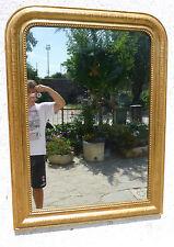 Specchiera Luigi Filippo dorata a Foglia oro 800 Specchio ORIGINALE 125x93,5 n19