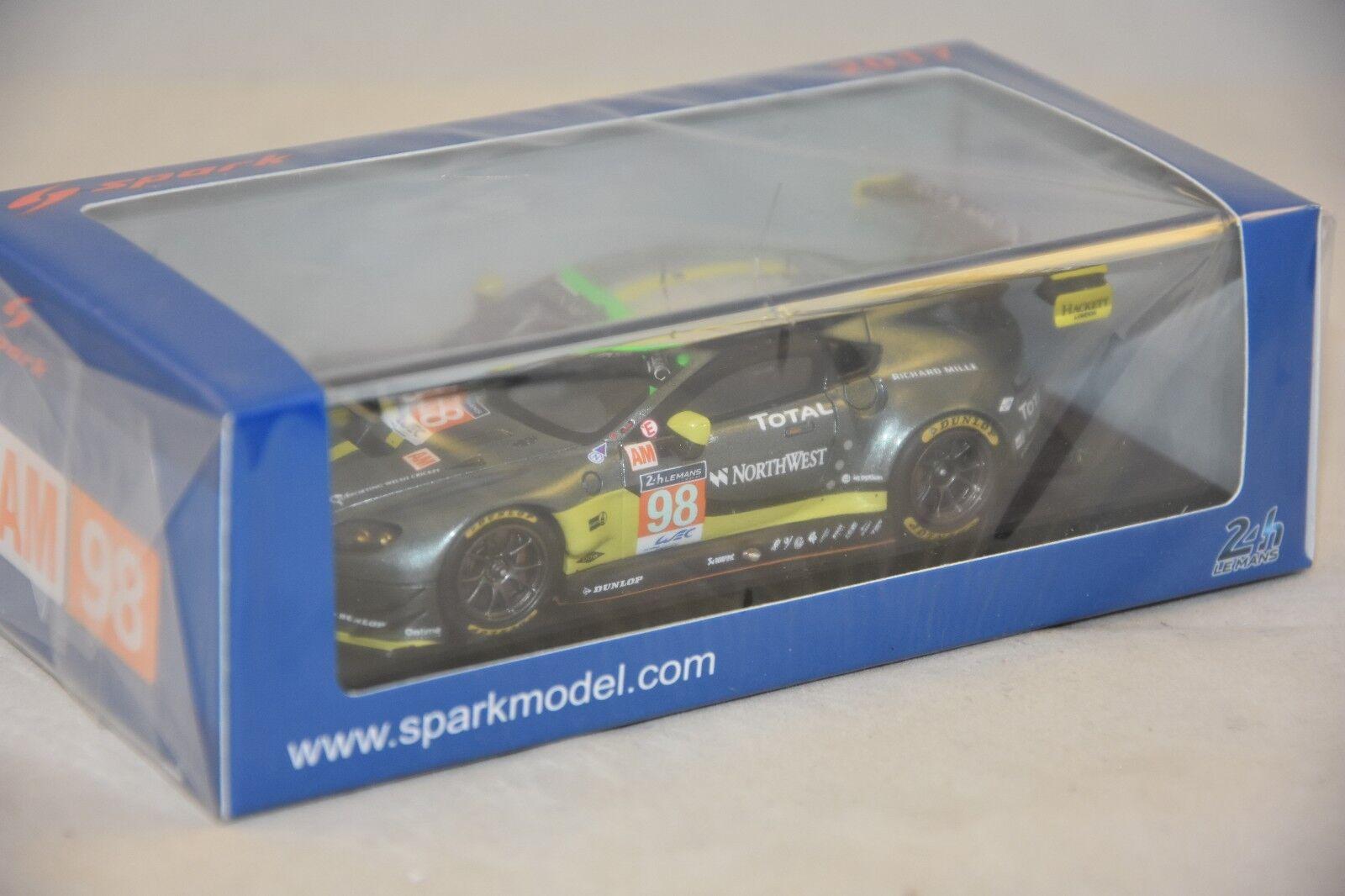 Spark S5843 - Aston Martin Vantage GTE No.98 - Aston Martin Racing Le Mans 1 43