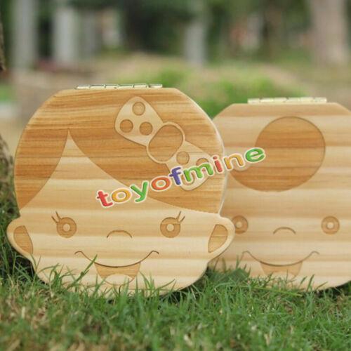 Personalizado madera bebé Hada De Los Dientes Caja Niño//Niña caja Funda