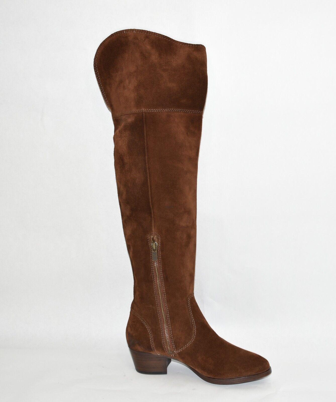 New  Frye Frye Frye 'Clara' Tassel Over the Knee Boot Brown Suede 3475370 Size 5.5 0ae95d