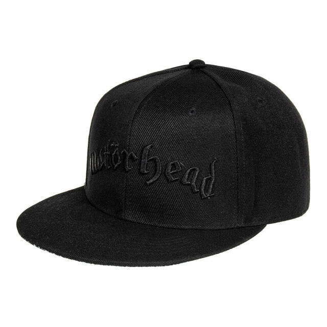 MOTORHEAD Logo & Warpig Black SNAPBACK HAT - Official Unisex Merchandise Cap