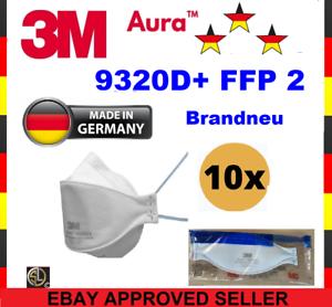 10er 3M™ Aura™ Atemschutzmaske 9320D+ FFP2 FFP 2 ohne Ventil - Mundschutz