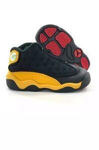 frattura esplosione Guerriero  Nike Air Jordan 13 XIII Retro TD Melo Carmelo Black Yellow 414581-035 size  6c... | eBay