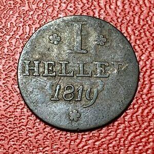 3909-RARE-Allemagne-1-Heller-1819-FACTURE