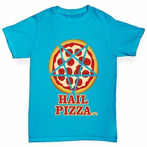 Twisted-Envy-de-Garcon-grele-Pizza-Drole-T-shirt-en-coton