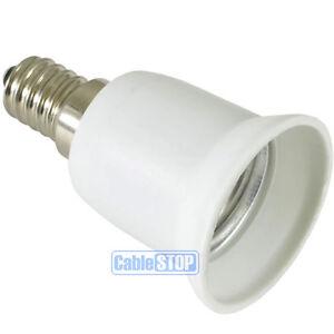 convert e14 small edison screw ses to e27 es light bulb holder adapter connector ebay. Black Bedroom Furniture Sets. Home Design Ideas