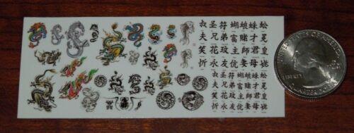 ART ASIATIQUE Variety Pack-Waterslide Decals 1//18 Scale Custom Tattoos