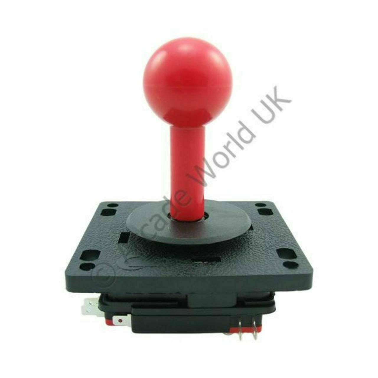 Red Moulded Arcade Joystick - Dedicated 8 Way Joystick With Fixed Handle