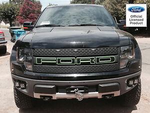 2010-2014 Ford Raptor F150 F-150 Grill Letter Sticker Decals Matte Carbon Fiber