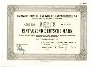 Baumwollspinnerei-und-Weberei-Lampertsmuehle-1953-Kaiserslautern-1000DM