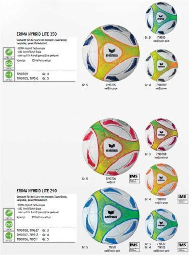 Bälle Erima Hybrid Lite Jugend Leicht Spielball Trainingsball Gr.3,4,5 290+350g Kinder