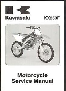 2006 kawasaki kx250f kx 250f motorcycle oem service factory manual rh ebay co uk 2006 Kawasaki KX250F Specs 2006 Kawasaki KX250F Review