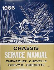 Best 1966 Chevy Car Shop Manual Impala Bel Air Biscayne Caprice Corvette Service