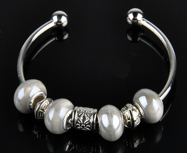 1pc new handmade charm cuff bracelet fit European beads s-613