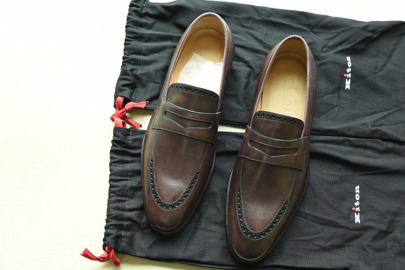 NIB Kiton Napoli penney loafer 6