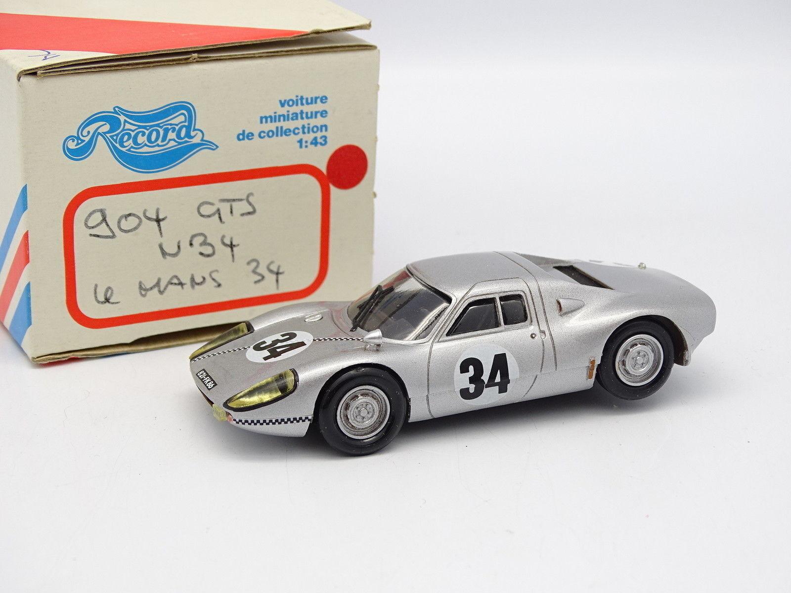 Record Kit Montato Resina 1/43 - Porsche 904 GTS N.34 le Mans 1964