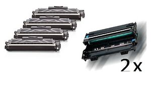 2-Drum-4-XL-Toner-compatible-pour-Brother-HL-L-2361dn-HL-L-2365dw-hl-l2380d