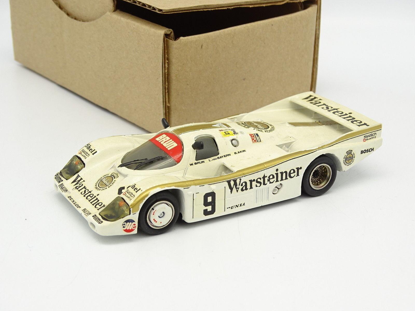 Starter Kit Monté SB 1 43 - Porsche 956 L Le Mans 1984 n° 9 Warsteiner