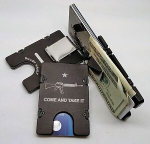 Come And Take It, AR15, Aluminum Wallet/Credit Card Holder, RFID Protection, Blk