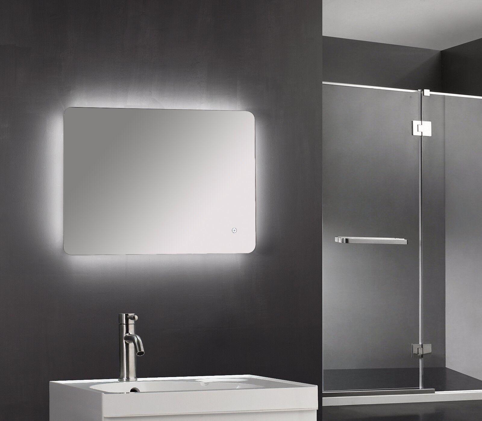 600 X 800mm Led Iluminados iluminado Touch Espejo de baño Desempañador IP44