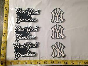 6 pc new york yankees mbl fabric applique iron on ons set 1 ebay