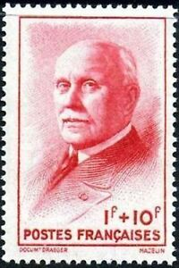 FRANCE-STAMP-TIMBRE-569-034-MARECHAL-PETAIN-ROUGE-1F-10F-034-NEUF-xx-TTB