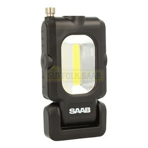 SAAB-GENUINE-COB-LED-TORCH-LIGHT-WITH-MAGENT-OFFICIAL-MERCHANDISE-TOOL-RARE