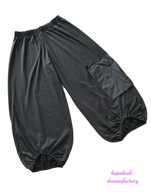 My Obsession-Lagenlook JERSEY-Ballonhose schwarz Knotenbänder 44 46 48 50 52