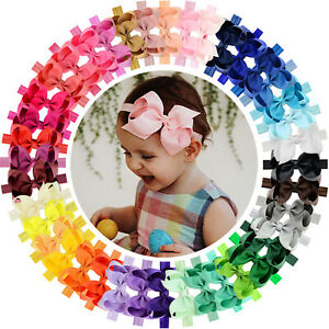 40pcs-4-Inch-Grosgrain-Ribbon-Hair-Bows-Headbands-for-Baby-Girl-Infants-Toddlers