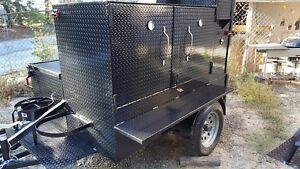 BBQ-Smoker-Trailer-side-Grill-Cooker-Food-Truck-Catering-Street-Vendor-Business