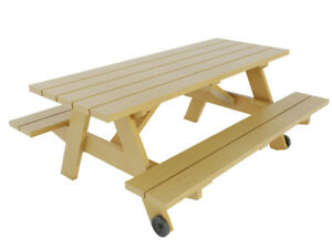 Details About Picnic Table W Benches Plans Diy Outdoor Patio Garden Furniture Build Your Own