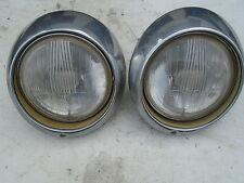 PORSCHE 901 911 912 HEAD LIGHT LAMP CHROME SEAL BEAM T E S 911T 911E 911S