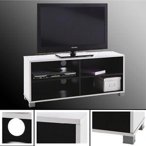 tv regal grafit 218 schwarz wei tv bank hifi rack tv schrank fernsehschrank neu ebay. Black Bedroom Furniture Sets. Home Design Ideas