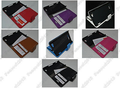 Multi Color Leather Cover Flip Case HOLDER WALLET For Sony Xperia M C1905 C1904