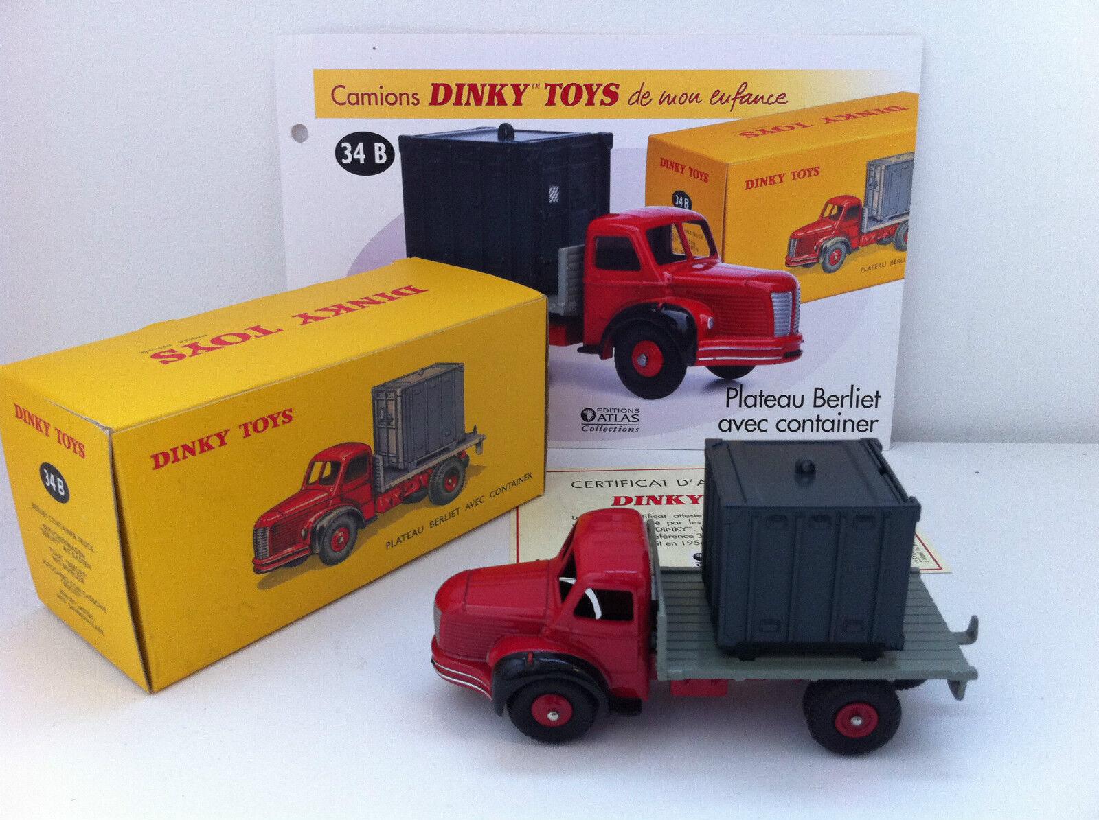Très, la surprise vous attend Dinky Toys Atlas - Berliet plateau avec container | Pour Gagner Un Haut Admiration Et Est Largement Trusted Et à L'étranger  | Outlet Shop En Ligne  | Nouvelle Arrivée  | Des Matériaux Supérieurs