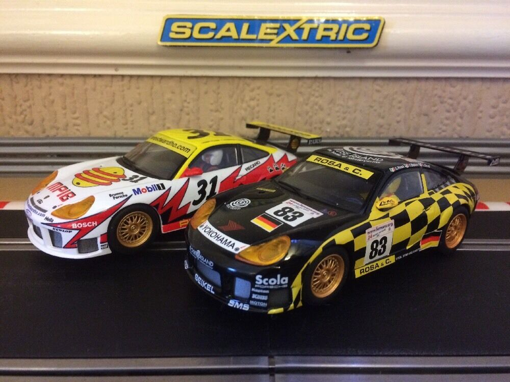 Scalextric Porsche 911 GT3R No31 & No83 Immaculate Condition