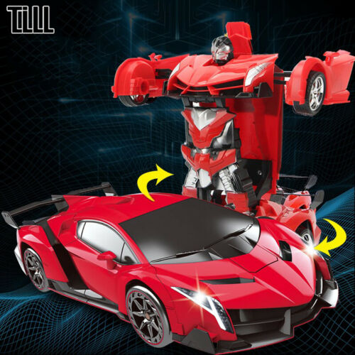 New Rc Transformer 2-In-1 Car Driving Sports Cars Robots Models Remote Kids Gift