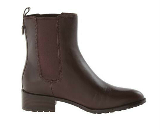Cole Haan Women's Daryl Waterproof Leather Short Boot Chestnut Size 9.5 B