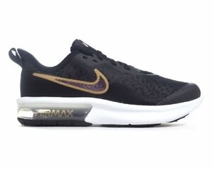 Nike Air Max Sequent 4 Sh Gs AV4476 001 Baskets Fille Doré Noir ... 10790e89747f