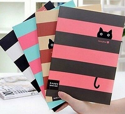 FD1025 Student Diary Note Book Happy Cat Stationery Large Notepad ~Random~ 1pc:)