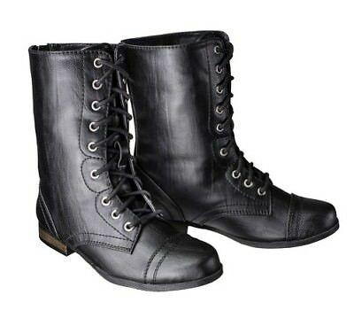NEW Girl/'s Youth Bongo Scarlett Mid Calf Combat Fashion Boots 66519 Black  0d