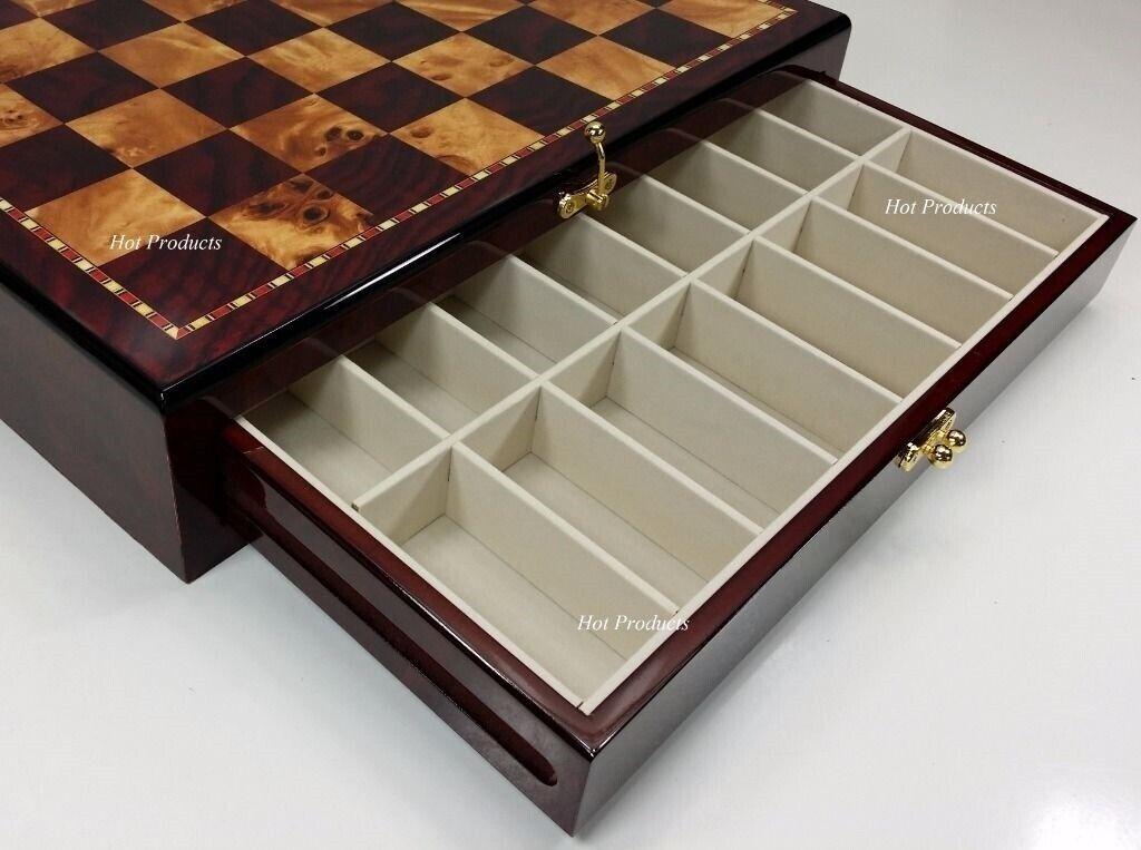 Brillant de conservation Chess Board  17  Cherry & Stool couleur avec 2 tiroirs  marque
