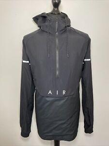 Nike Air Max 97 Windbreaker Rain Pullover Half Zip Jacket Men's Black Large VGC