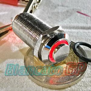 INTERRUTTORE-SPST-12mm-BISTABILE-LED-DC-ROSSO-ottone-cromato-illuminato-unipolar